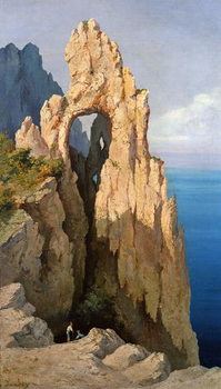 Rocks at Capri Canvas Print