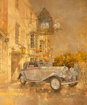Rolls Royce outside the Swan Hotel, Market Harborough Canvas Print