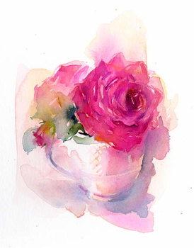 Rose in Teacup, 2017, Canvas Print