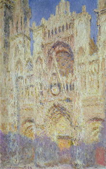 Rouen Cathedral at Sunset, 1894 Canvas Print