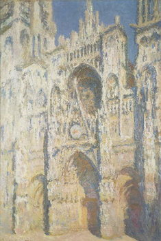 Canvas Print Rouen Cathedral in Full Sunlight: Harmony in Blue and Gold