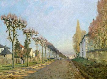 Rue de la Machine, Louveciennes, 1873 Canvas Print