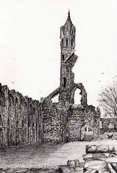 Canvas Print Ruin at St.Andrews, 2006,