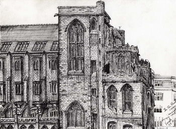 Rylands Library Manchester, 2007, Canvas Print