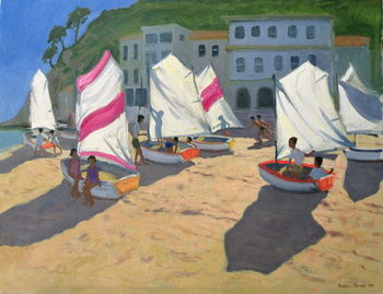 Sailboats, Costa Brava, 1999 Canvas Print