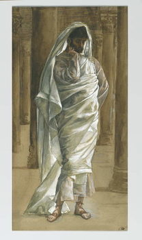 Saint Thomas, illustration from 'The Life of Our Lord Jesus Christ', 1886-94 Canvas Print