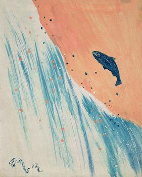 Salmon Leap Canvas Print