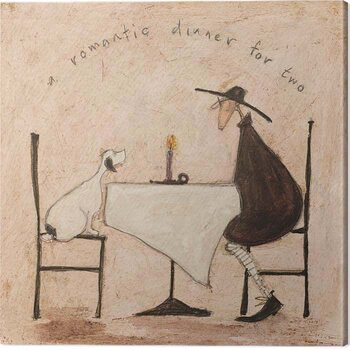 Canvas Print Sam Toft - A Romantic Dinner For Two
