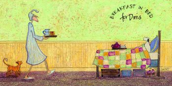 Canvas Print Sam Toft - Breakfast in bed for Doris