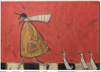 Canvas Print Sam Toft - Crossing with Ducks