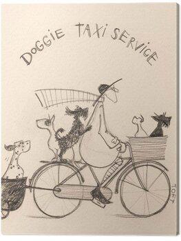 Canvas Print Sam Toft - Doggie Taxi Servise