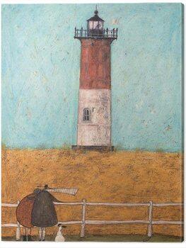 Canvas Print Sam Toft - Feeling The Love At Nauset Light /