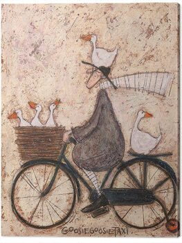 Canvas Print Sam Toft - GoosieGoosie Taxi
