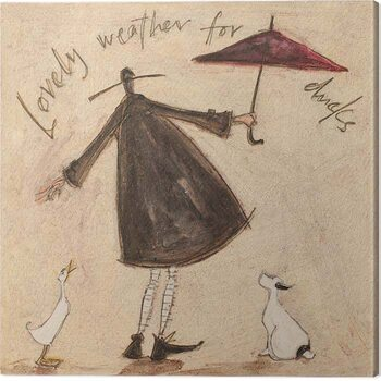 Canvas Print Sam Toft - Lovely Weather for Ducks