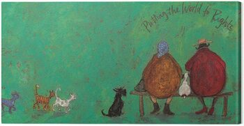 Canvas Print Sam Toft - Putting the words to right