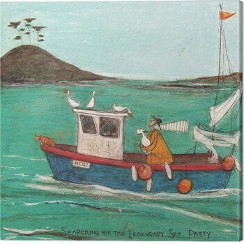 Canvas Print Sam Toft  - Searching for the Legendary Sea Pasty