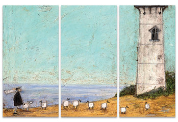 Canvas Print Sam Toft - Seven Sisters And A Lighthouse