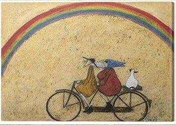 Canvas Print Sam Toft - Somewhere under a Rainbow