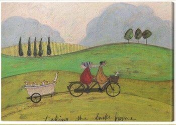 Canvas Print Sam Toft - Taking the Ducks Home