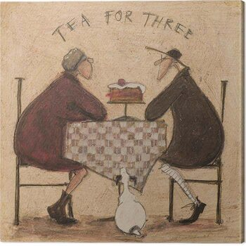 Canvas Print Sam Toft - Tea For Three