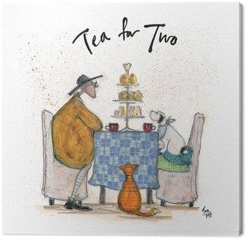 Canvas Print Sam Toft - Tea For Two - Colour