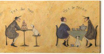 Canvas Print Sam Toft - Tea For Two Tea For Three