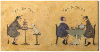 Canvas Print Sam Toft - Tea For Two, Tea For Three