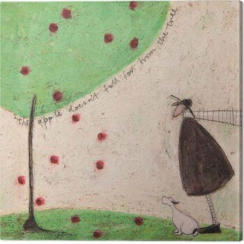 Canvas Print Sam Toft - The Apple Doesn't Fall From the Tree