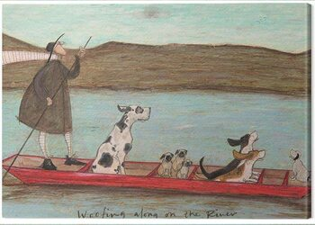 Canvas Print Sam Toft - Woofing Along on the Rinver