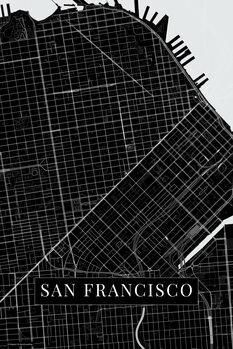Canvas Print San Francisco black
