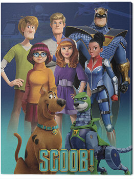 Canvas Print Scoob! - Scooby Gang and Falcon Force
