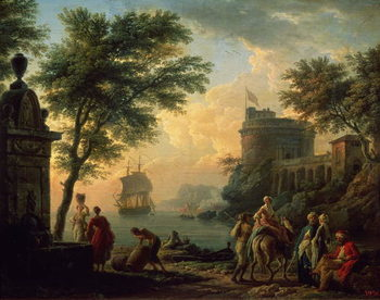 Seaport, 1763 Canvas Print