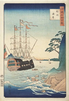 Seashore in Taishū from the Series One Hundred Views of Celebrated Places in Various Provinces, c.1850 Canvas Print