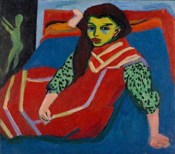 Seated Girl (Fränzi Fehrmann), 1910 Canvas Print