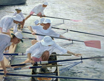 Securing Oars, Henley Canvas Print