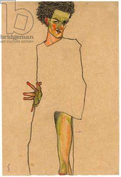 Self portrait, 1910 Canvas Print