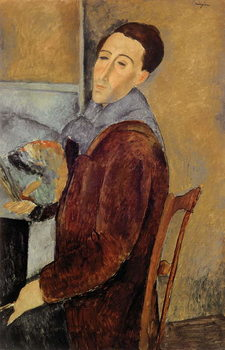 Self Portrait, 1919 Canvas Print