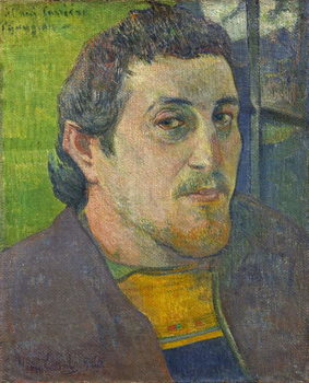 Self Portrait dedicated to Carriere, 1888-1889 Canvas Print
