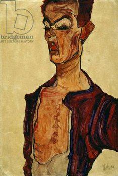 Self Portrait Screaming Canvas Print
