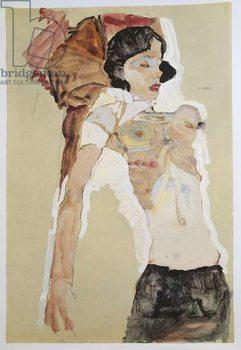 Seminude Female Figure Canvas Print
