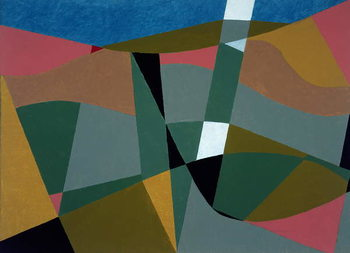 Shafted Landscape, 2001 Canvas Print