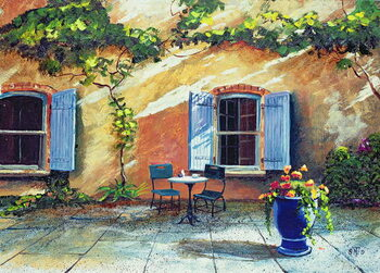 Shuttered Windows, Provence, France, 1999 Canvas Print
