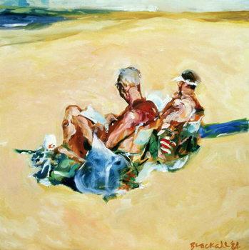 Sidney Beach Bums, 1984 Canvas Print
