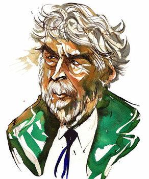 Sir Harrison Birtwistle - colour caricature Canvas Print