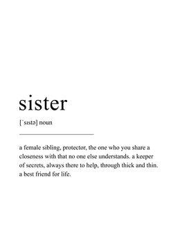 Canvas Print Sister definition