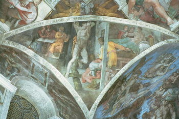 Sistine Chapel Ceiling: Haman (spandrel) Canvas Print
