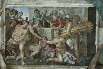 Canvas Print Sistine Chapel Ceiling: Noah After the Flood