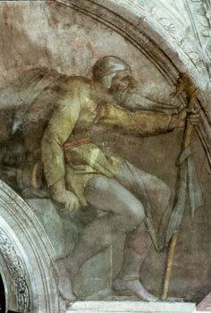 Sistine Chapel Ceiling: One of the Ancestors of God Canvas Print