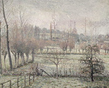 Snow Effect at Eragny, 1894 Canvas Print