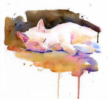 Snowball sleeping, 2014, Canvas Print
